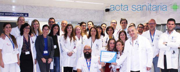 Acta Sanitaria: El Servicio de Medicina Interna del Hospital de Torrevieja, premiado por su atención excelente