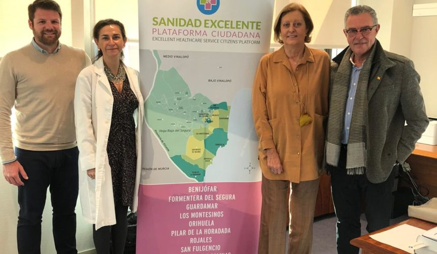 """La Plataforma """"Sanidad Excelente"""" mantiene una reunión con la Gerente médica del Hospital Universitario de Torrevieja la Doctora Eva Baro"""