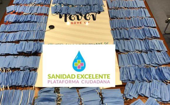 La ciudadanía de Torrevieja coordinada por Sanidad Excelente entrega las primeras  1.000 mascarillas
